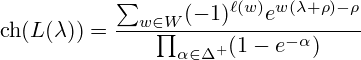 Weyl's character formula